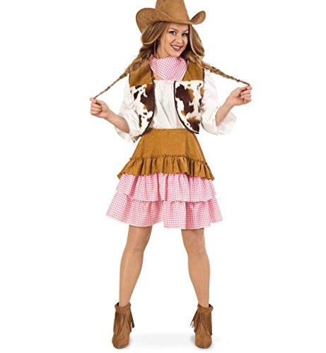 STÜM - COWGIRL - Größe 38 (S) (Cowboy Saloon Girl Kostüme)