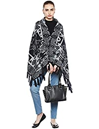Cayman Navy-blue Reversible Poncho Sweater