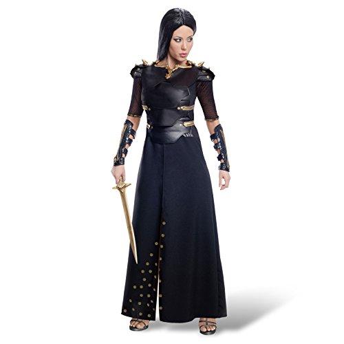 300 Rise of an Empire Artemisia Deluxe Kostüm Kampf Gewand Damen 3-tlg Kleid mit Schulterstücken Armschienen - L (300 Halloween Kostüm)