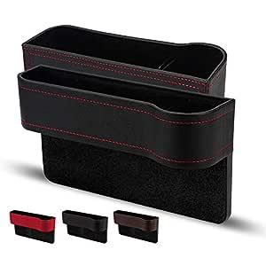 Auto Aufbewahrungsbox Universal Auto Seat Gap Organizer Aufbewahrungsbox Konsole Seitentasche Ledersitz Spalt Aufbewahrungsbox Autositz Gap Aufbewahrungsbox Organizer Schwarz 2 Stück Baby