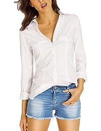 Bestyledberlin Damen Blusen, Stretch Tops, taillierte Hemden, Oberteile gestreift t35z