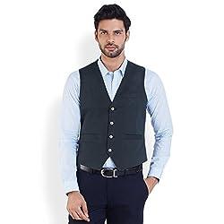 Park Avenue Men's Cotton Waistcoat (8907253217419_PCVA00004-B6_44_Dark Blue)