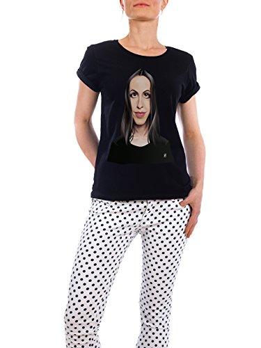 """Design T-Shirt Frauen Earth Positive """"Alanis Morissette"""" - stylisches Shirt Musik von Rob Snow Schwarz"""