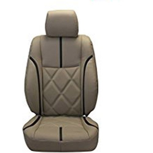 Autodecor Mahindra KUV 100 Beige Leatherite Car Seat Cover with Neck Rest Free