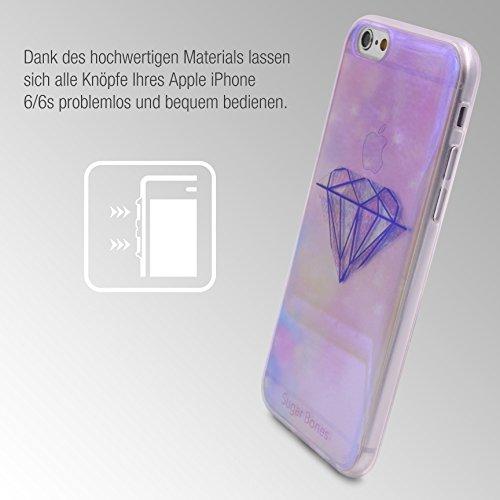 Urcover® Apple iPhone 6 / 6s Semi Hardcase Effect Hülle | TPU Soft Diamond | Trendy Zubehör Tasche Case Handy-Cover Schutz-Hülle Schale Soft Diamond