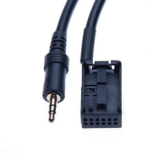 BMW Ingresso AUX da 3.5 mm per MP3 iPod Musica Interfaccia Adattatore CD Changer Cavo di Collegamento per BMW E39 Z4 E85 X3 E53 E83 E60 E61 E63 E64, mini Cooper, HTC One, Huawei P10, Samsung Galaxy A3 A5 A7 J1 J2 J3 J5 S6 S7, Sony Xperia x XZ Xzs, Nokia 3 5 6 iPod
