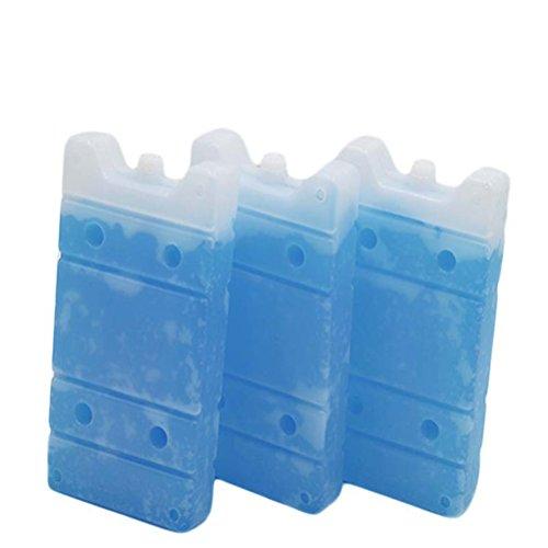 Gefrierschrank Lagerung Von Lebensmitteln (BESPORTBLE 3 Stücke Wiederverwendbare Eisbeutel Leichte Gefrierschrank für Lunchboxen Kühler Lagerung Lebensmittel Sport Reisen Hautpflege)