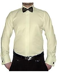 Coupe slim smoking chemise de pie noir couleurs structure new à manches longues avec col kent