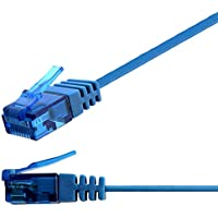 Ligawo 1014344.0 Patch Cable RJ45 de red CAT6 a Cable plano de 10 Gigabit (5 m), color azul