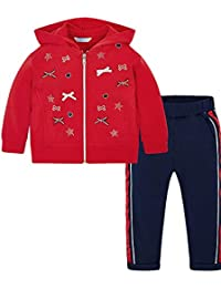 Red Bow Tracksuit for Girls Mayoral 3807
