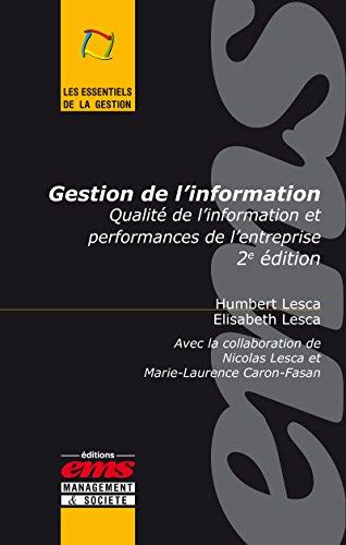 Gestion de l'information: Qualité de l'in...