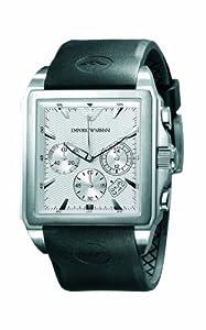 Emporio Armani AR0657 - Reloj cronógrafo de cuarzo para hombre, correa de goma color negro de Emporio Armani