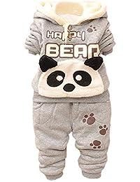 Kobay Baby Kinder Jungen Set Kleidung Langarm Karikatur Panda Top + Hosen