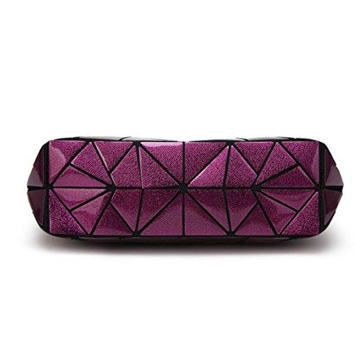 Borsa Geometrica Borsa Di Modo Del Messaggero Delle Donne Purple