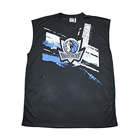 BIG & TALL NBA Hommes Dallas Mavericks Athletic Dri-Fit Basketball Tank Top 3XLT Noir