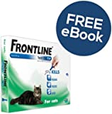 Frontline Spot On For Cats - 3 Pipettes - INCLUDES FREE EXCLUSIVE PETWELL® FLEA AND TICK E BOOK