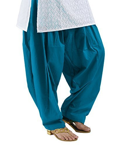 Kalpit Creations Women's Premium Cotton Readymade Salwar (sky)