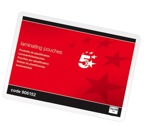 5-star-office-laminating-pouches-250-micron-for-a7-75x105mm-glossy-pack-100