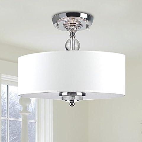 Saint Mossi Modern Deckenleuchte deckenlampe Kristall Dekoration weiß Stoff Lampenschirm Wohnzimmerleuchte Schlafzimmerleuchte Innenleuchte Durchmesser Lüster Kronleuchter Erforderlich Wohnzimmerlampe