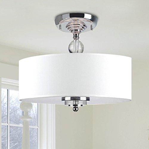 Dreifach-bad-wandleuchte (Saint Mossi Modern Deckenleuchte deckenlampe Dekoration weiß Stoff Lampenschirm Wohnzimmerleuchte Schlafzimmerleuchte Innenleuchte Durchmesser Lüster Kronleuchter Erforderlich Wohnzimmerlampe)