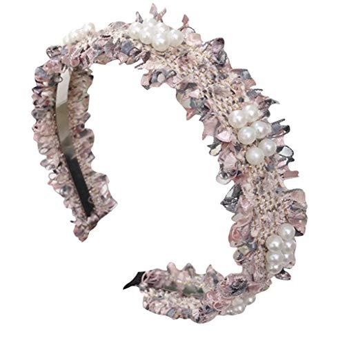 Lomsarsh Neue einfache feine Tuch-Perlen-Stirnband-Stirnband-Gewebe Hairband-Haar-Bügel-Turban-Haarband-nette Haar-Zusätze