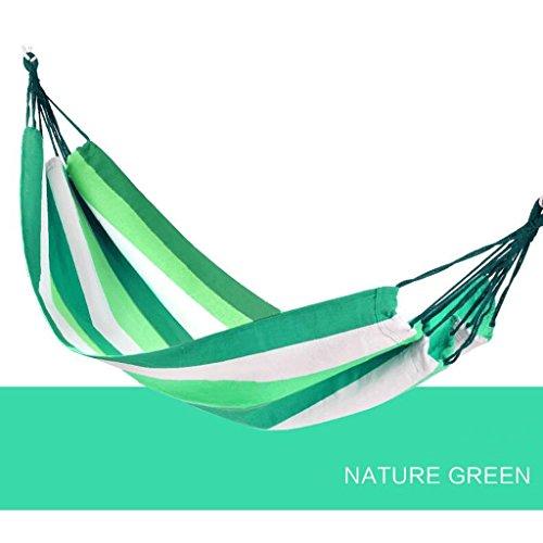 Yp-Hängematte Hängematte Outdoor Single Indoor Schlafsaal Schaukel Erwachsene Schlafen Große Leinwand Korb Anti-Rollover Net (Farbe : A)