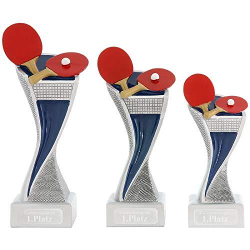Pokal L Tischtennis Pokal Pokalset METZ mit Gravurplatte und Gravur