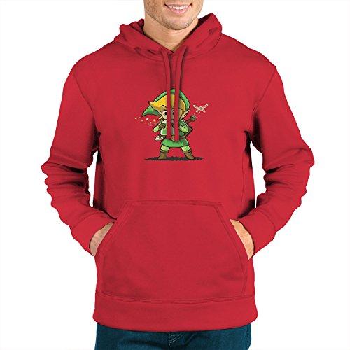 Planet Nerd Cartridge Link - Herren Hooded Sweater, Größe: XXL, Farbe: (Legend Of Zelda Roten Link Kostüm)