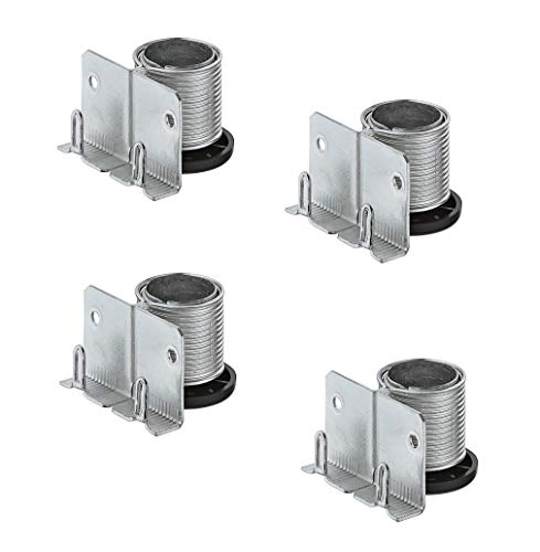 Gedotec Sockelfüße Sockel-Höhenversteller zum Einbohren & Schrauben   Tragkraft 150 kg   Sockel-Verstellfuß Stahl massiv   +20 mm höhenverstellbar   4 Stück - Möbelfüße Küche mit mit Auflagewinkel