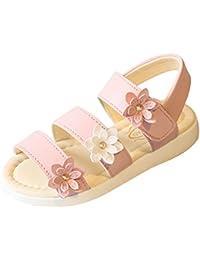 Y-BOA Floral Sandales Enfant Fille Princesse Été PU Chaussure Ville Souple Voyage