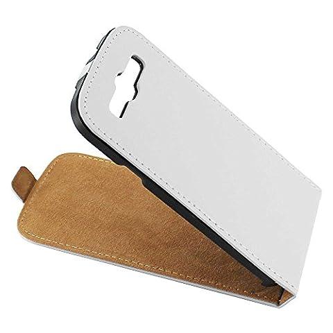 ebestStar - pour Samsung Galaxy S3 i9300 i9305 - Housse Coque Etui à rabat PU cuir ULTRA FIN (ultra slim case), Couleur Blanc [Dimensions PRECISES de votre appareil : 136.6 x 70.8 x 8.6 mm, écran 4.8