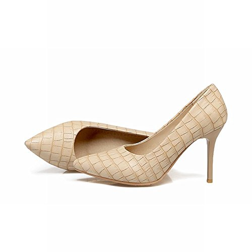 Mee Shoes Damen elegant Stiletto Geschlossen Pumps Aprikose