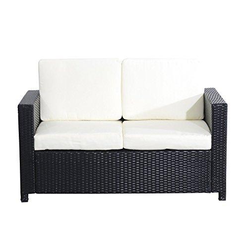 Outsunny Sessel Exklusives Polyrattan Gartenmöbel Doppelsofa ...