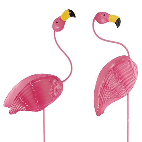 Frank Flechtwaren Gartenstecker Flamingo im 2er Set