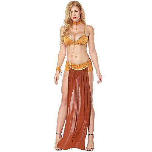 hhalibaba Star Wars Cosplay Kostüme Prinzessin Leia Slave Bra + Rock Black & Brown DamenSexy Party Anime Halloween Kostüm Ägyptischen (Sexy Ägyptische Prinzessin Kostüm)