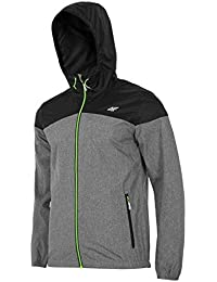 NEW-4F PLM003 H4Z17 MENS WARM FLEECE HOODIE JACKET Microtherm Xtreme BLACK