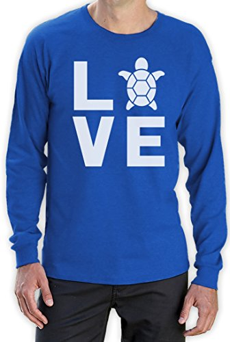 I love Schildkröten - Geschenke für Tierliebhaber Langarm T-Shirt Blau