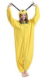 BRLMALL Unisex Adult Pajamas - Plush One Piece Cosplay Yellow Dog Animal Costume