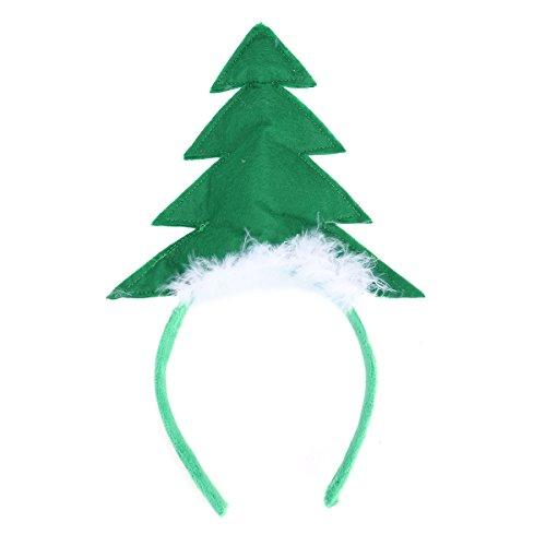 LUOEM 2 Stücke Weihnachten Haarreif Kinder Haarschmuck Weihnachtsbaum mit ()