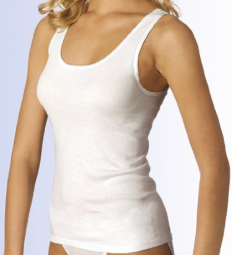 Calida Damen Unterhemd Top ohne Arm Slip/Hosen Black