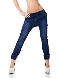 d64c80c9c76f46 Simply Chic Dunkle Röhren-Jeans in dezentem Pump-Style mit tiefem Schritt