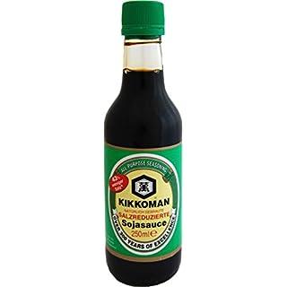 KIKKOMAN Salzreduzierte Sojasauce / 43% weniger Salz als die traditionelle Kikkoman 250ml