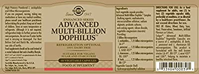 Solgar Advanced Multi-Billion Dophilus Vegetable Capsules - Pack of 60