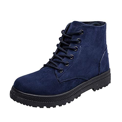 Stiefeletten Damen Schuhe ABsoar Boots Frauen Klassischer Leder Knöchel Stiefel Boots Winter Warme Gefüttert Stiefeletten Schneestiefel Martin Stiefel Mittelrohrstiefel