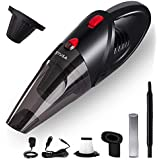 TUSA Wireless Handled Vacuum Cleaner, High Power Cordless Mini Vacuum Cleaner (Black)