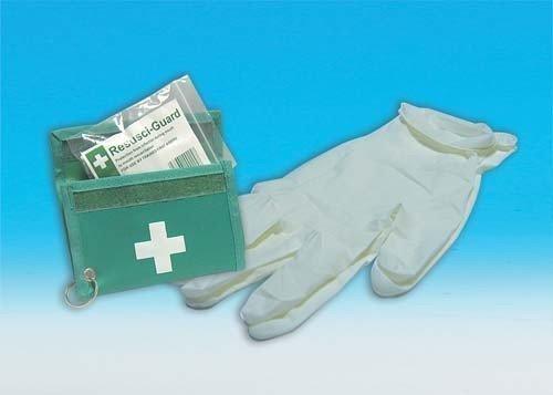 Neu Reanimation Set Tasche Erste Hilfe Set Vinyl Handschuhe Schutz Handliches Set - Reanimation Tasche