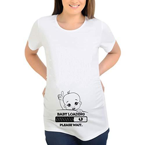 Mujer Baby Loading 2021 Mam/á Camiseta de carga Anuncio de embarazo Camiseta sin Mangas