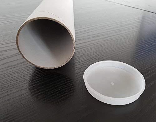 Tubi di cartone 10 prodotti ALT. cm 82 x 8 spess. cm.0,28 EXTRA STRONG Portadisegni e Stampe di cartone robusto e tappi in plastica per spedizioni o trasporto archiviazione codice cylinder08210