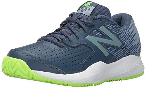 New Balance Coperchio Corte MC696V3Scarpe da Tennis Pigment/Energy Lime