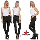Buena Vista Kim Stretch Denim Tolle Damen Jeans mit dekorativer Knopfleiste Black Paint S